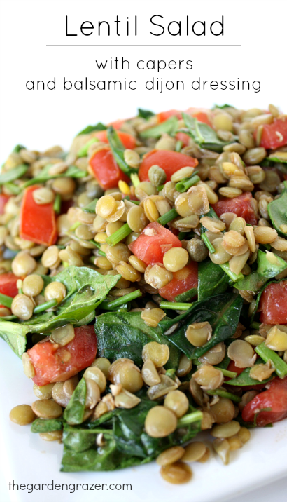 Lentil Salad with Capers and Balsamic-Dijon Dressing