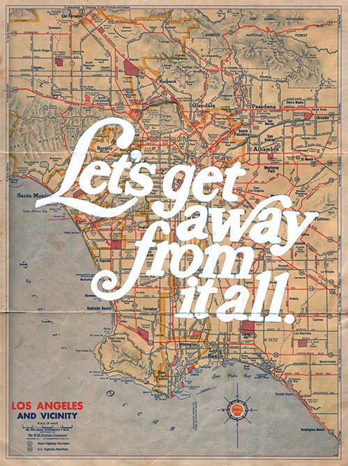 vintage ad for los angeles
