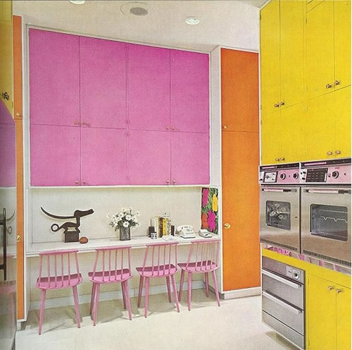 Yellow Pink Kitchen