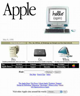 Apple computers ad from 1998, 1990s computers, iMac, old computers, Macbook pro