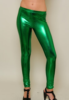 Kelly Green Metallic Leggings