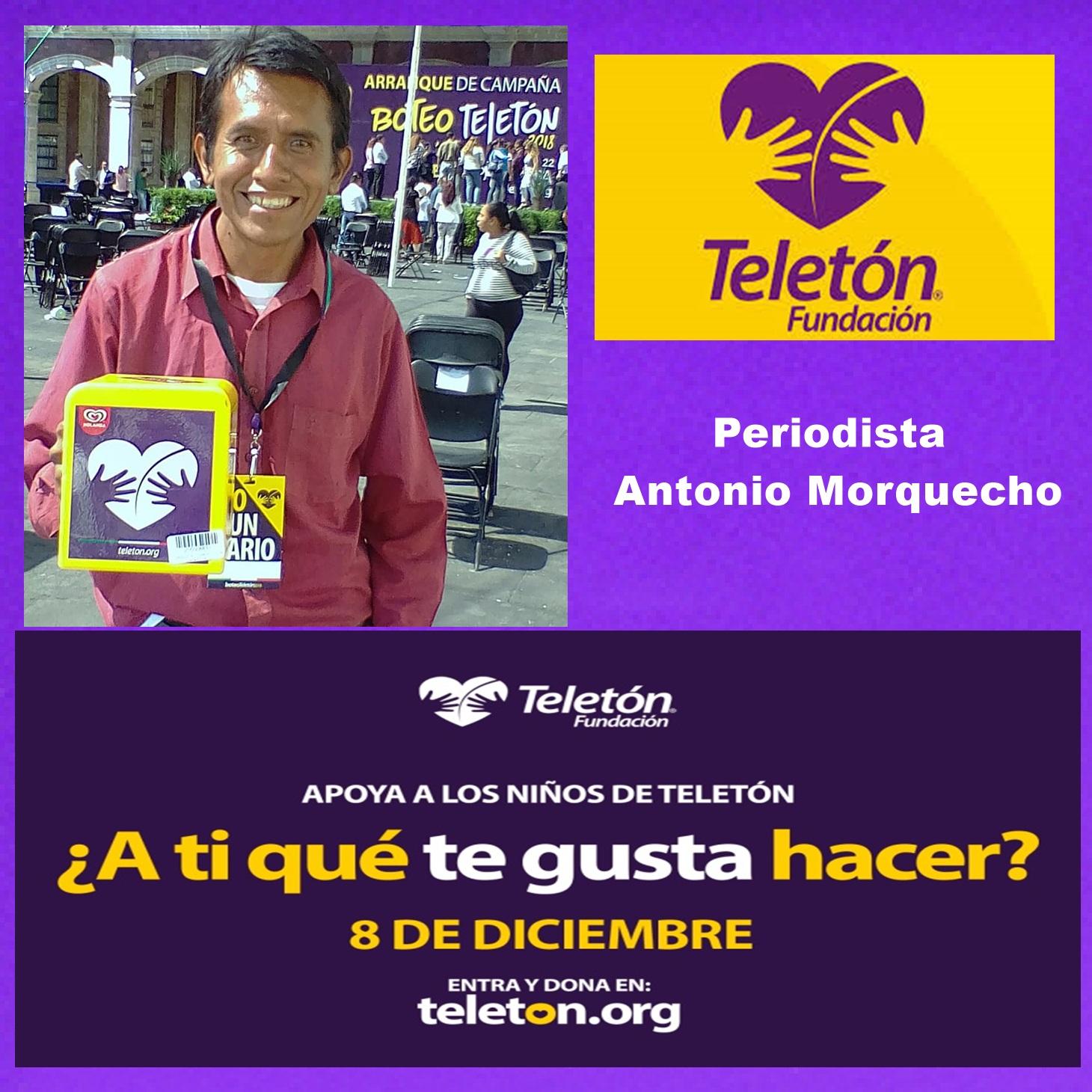 ANTONIO MORQUECHO EN POSTER TELETON