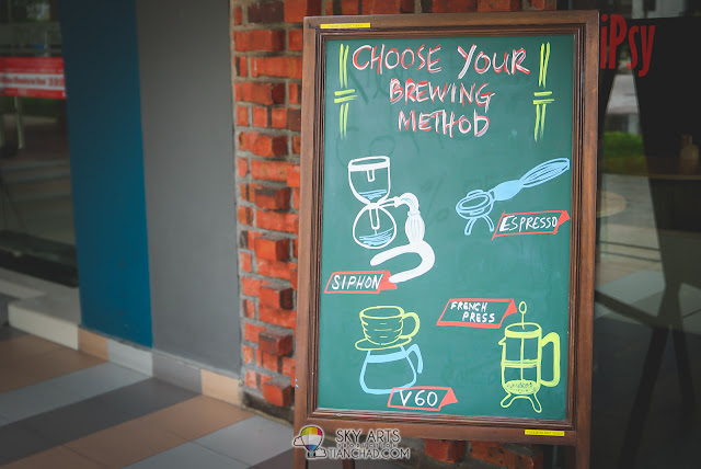 TiPsy Brew O'Coffee @ Puchong Setiawalk - Brewing Method includes Siphon, Espresso, French Press and V60