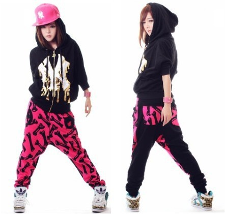 Teens joint dress like hip hop female for Hip hop outfit damen