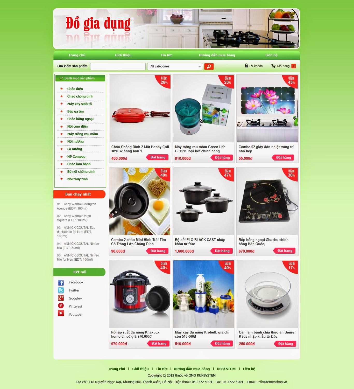 thiết kế web bán hàng gia dụng giá rẻ