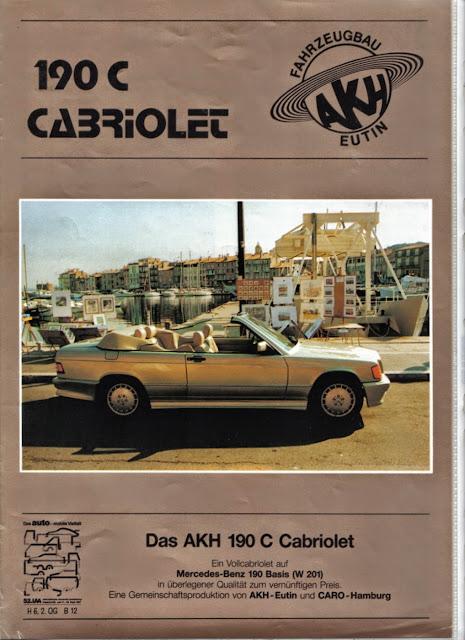 mercedes 190 c cabriolet