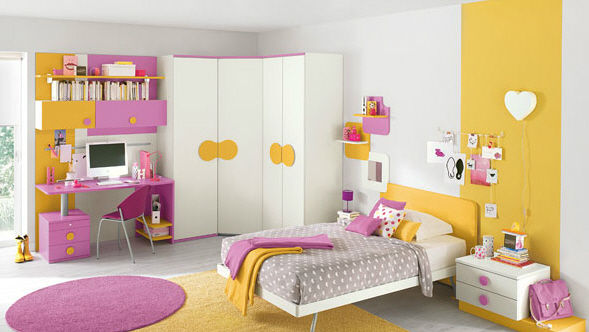 chambre jeune fille d coration. Black Bedroom Furniture Sets. Home Design Ideas