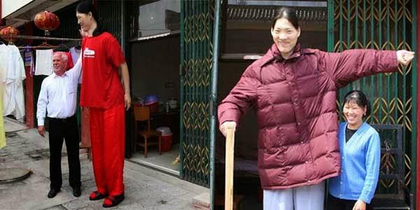 Yao Defen wanita dengan bentuk fisik teraneh di dunia pemilik tubuh tertinggi