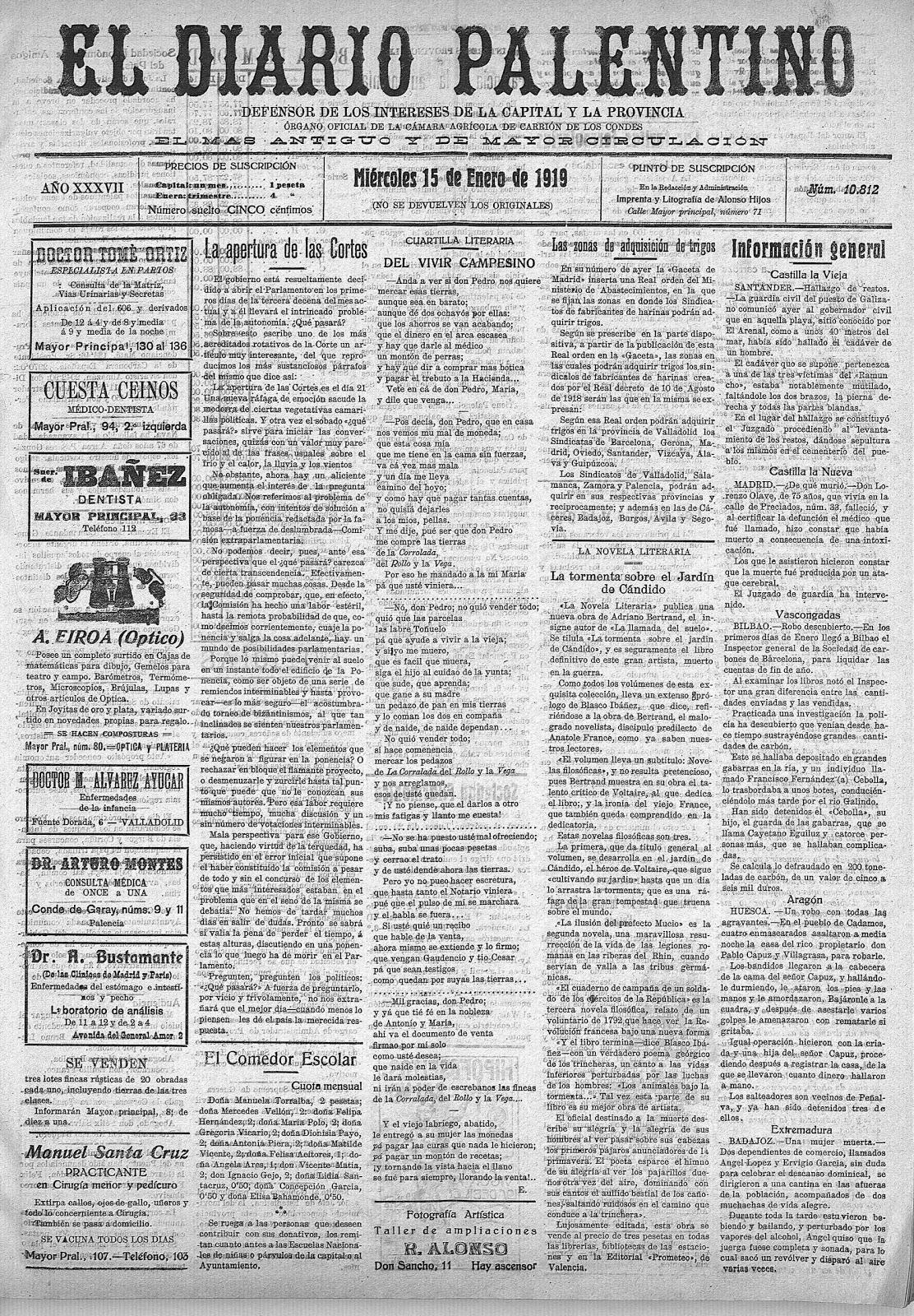 El Diario Palentino 1919
