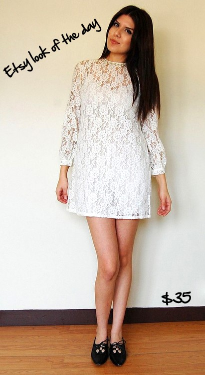 Floral lace faux pearl collar dress by putonthatdress