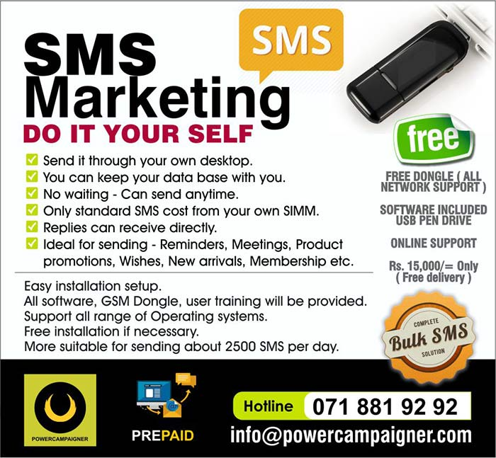 Easy installation setup. All software, GSM Dongle, user training will be provided. Support all range of Operating systems. Free installation if necessary.  More suitable for sending about 2500 SMS per day.