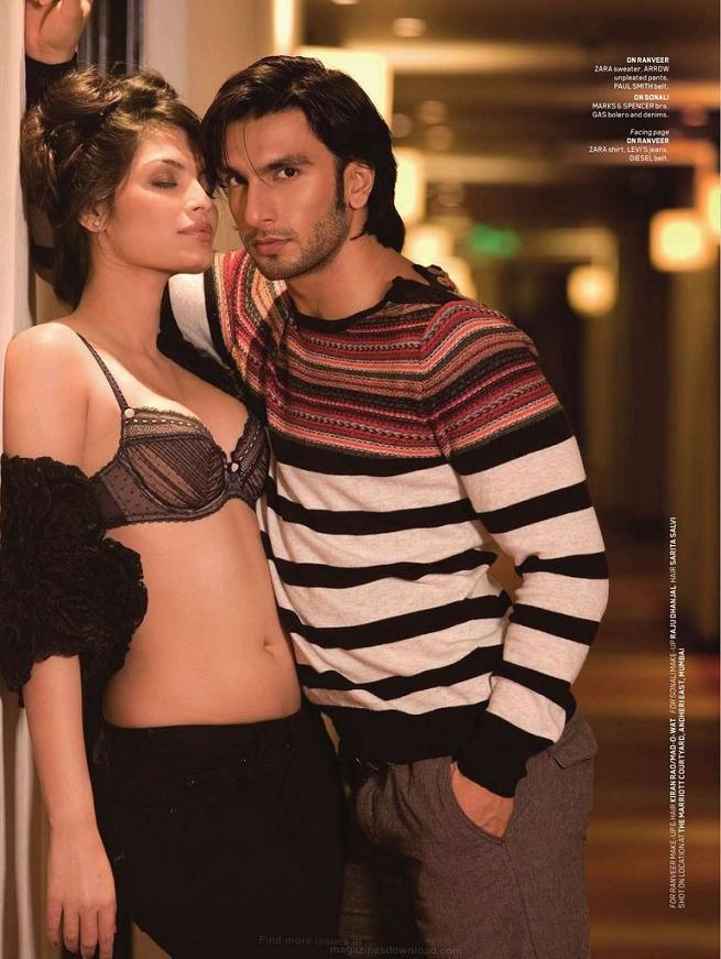 Ranveer Singh and Sonali Raut pose for Maxim India, December 2011