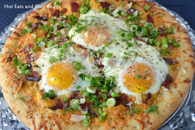 This is a unique and delicious breakfast or holiday brunch recipe! Plus, who doesn't love pizza anytime of day? Bacon & Asparagus Breakfast Pizza Recipe from Hot Eats and Cool Reads