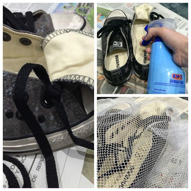 como limpiar calzado de tela