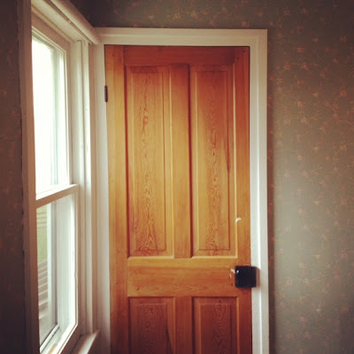 Rowhouse home decor farmhouse inspiration for Wood doors with white trim pictures