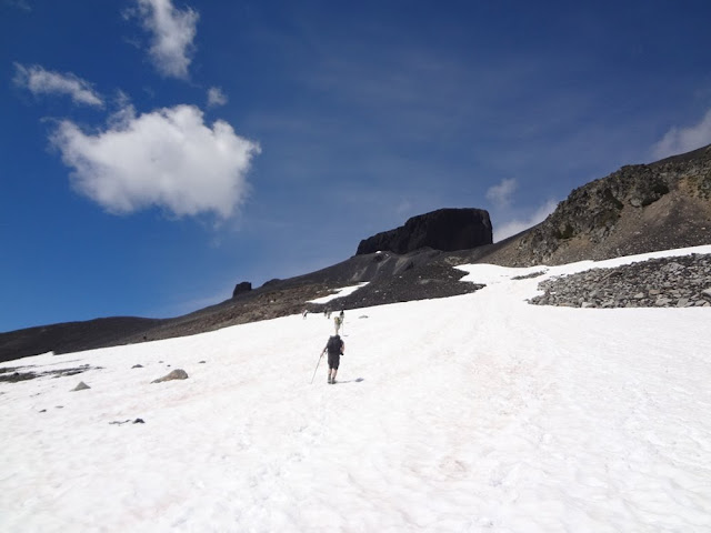 Snowy ascent towards the Black Tusk, Garibaldi Provincial Park
