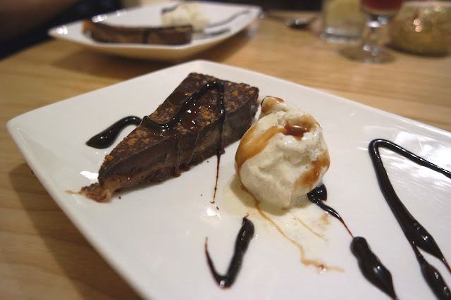 Grosvenor Casino Food Restaurant Review Chocolate and Salted Caramel Tart