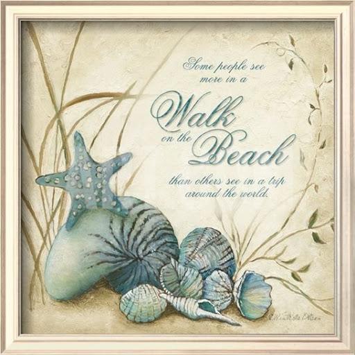 Walk on the Beach Quote Art