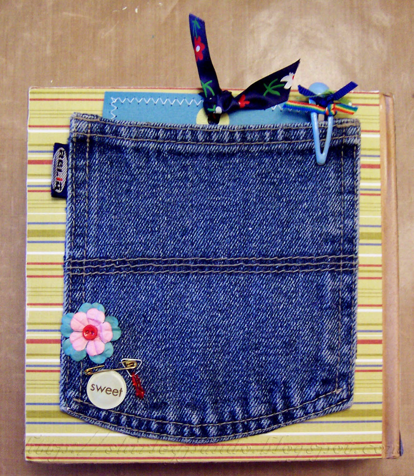 Blue Jean Pocket on MiniBook