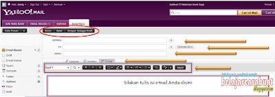 Tampilan Editor Email Yahoo