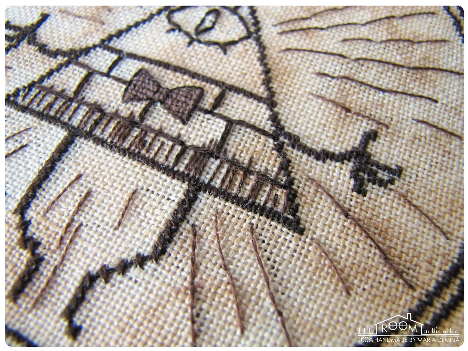 Гравити фолз схема вышивки крестом