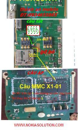 nokia X1-01 MMC ic jumper soultion mhrmobi