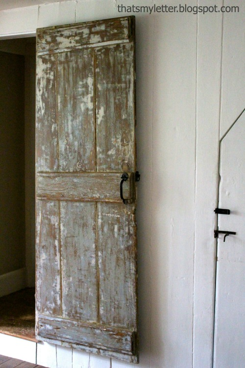 That s My Letter DIY Stripped Farmhouse Door