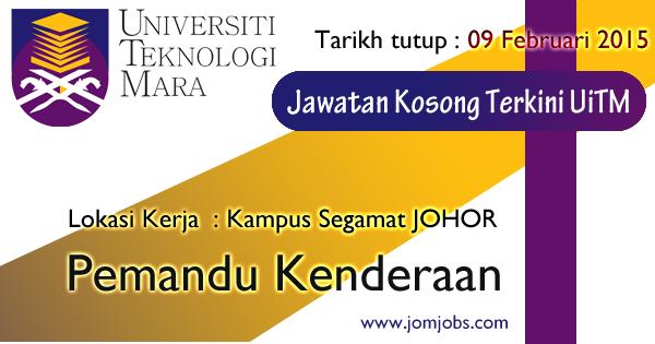 Jawatan Kosong UiTM Johor 2015