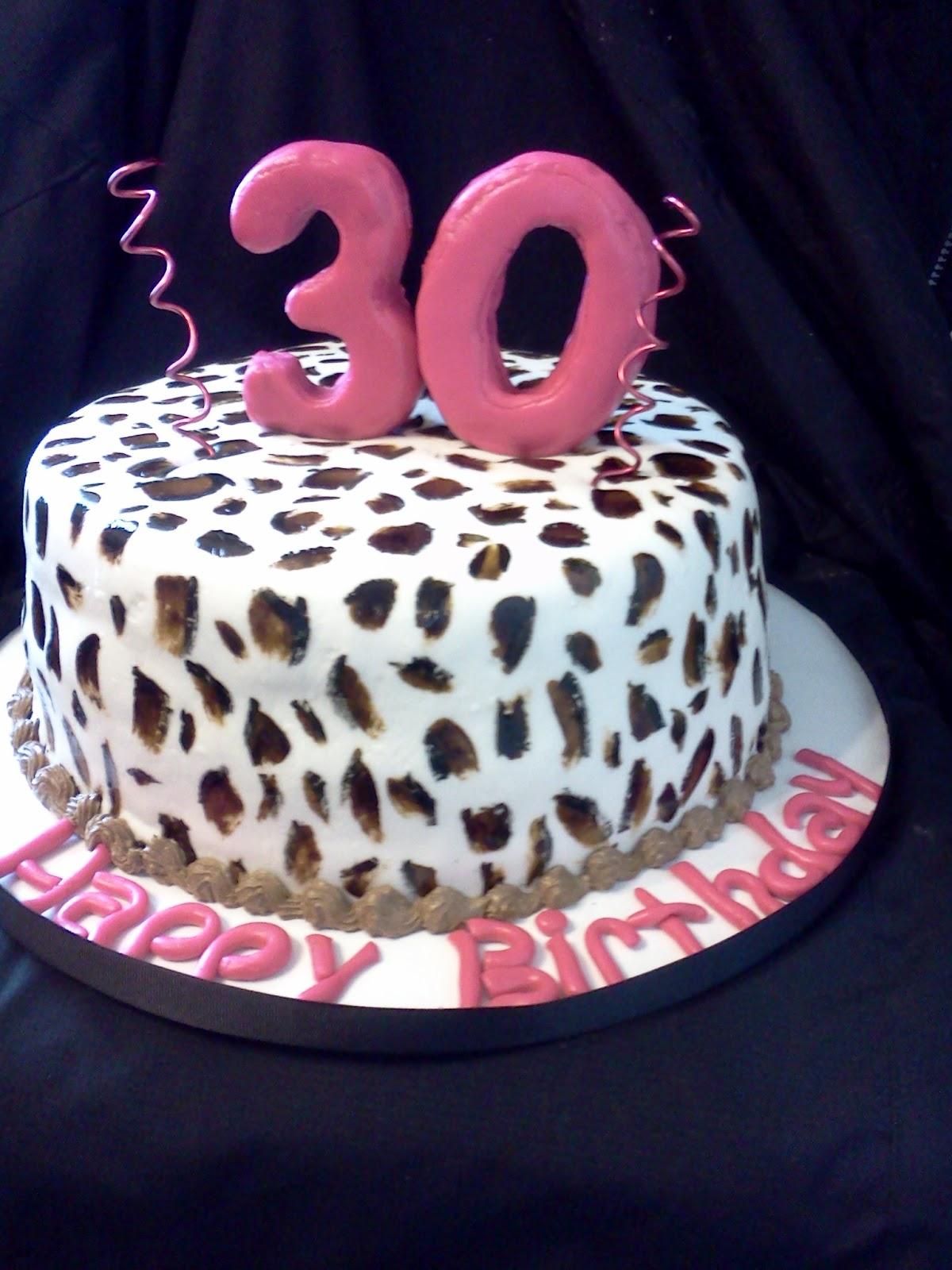 Hand Painted Cheetah Print Cake Pinterest