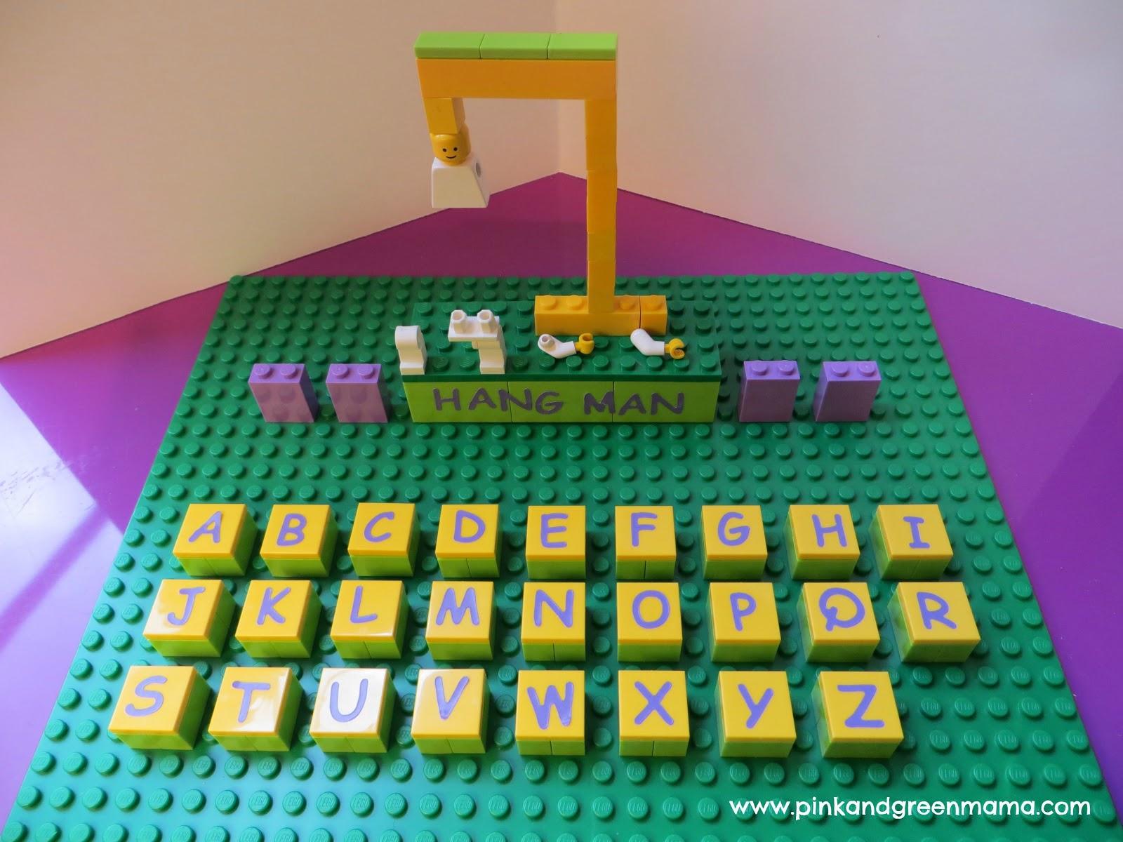 Pink and green mama fun with legos diy lego hangman for Lego diy