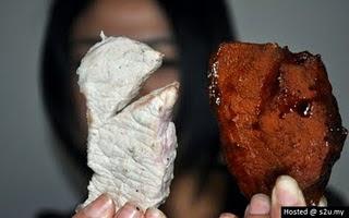 daging lembu tiruan dari babi