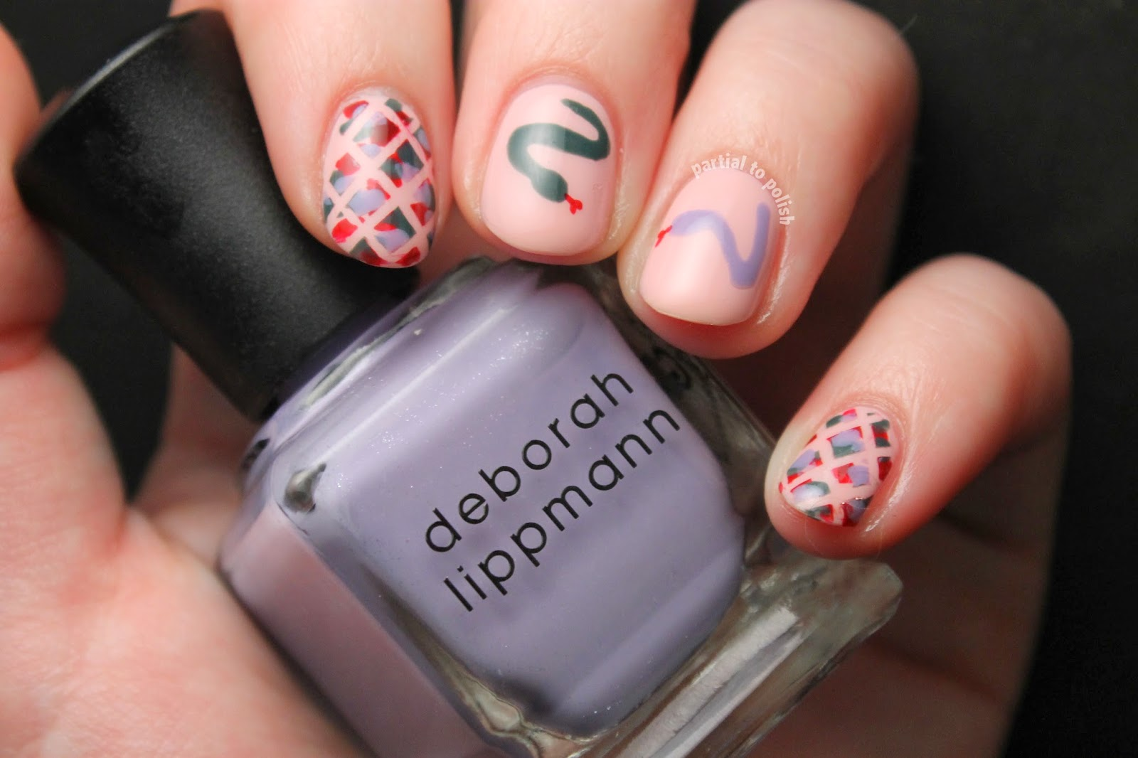 Deborah Lippmann Girls Collection & Snake Nail Art