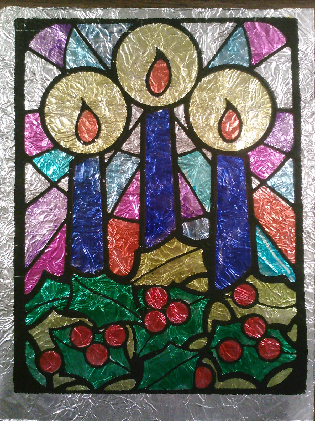 Classroom diy stained glass