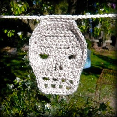 Crochet Patterns Skull : Shara Lambeth Designs: Skull Crochet Pattern