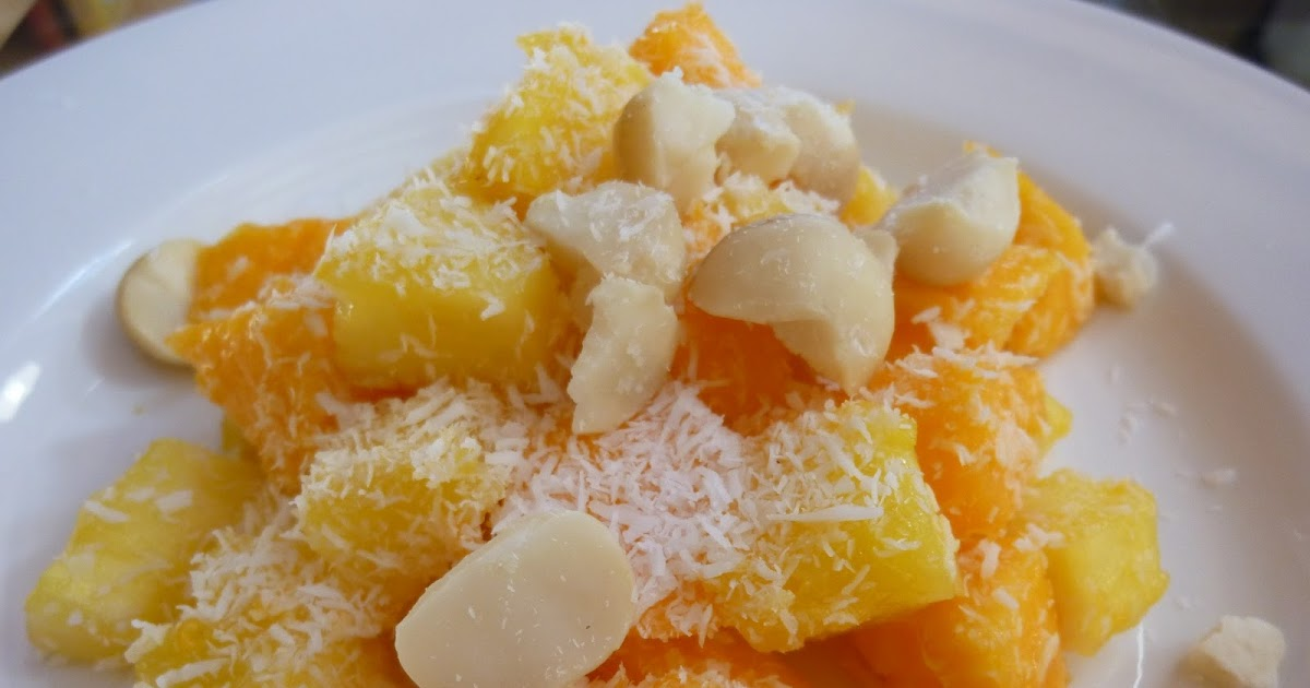 ... Pineapple Papaya Salad With Macadamia Nuts And Coconut - A Taste Of