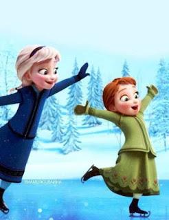 Gambar Elsa dan Anna Frozen Kecil