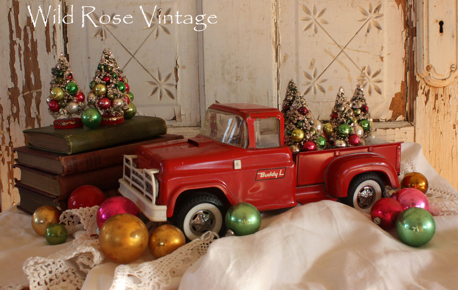 Red Truck Christmas Decor Home Image Ideas