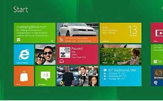 Microsoft Windows 8 Touchscreen Screenshot