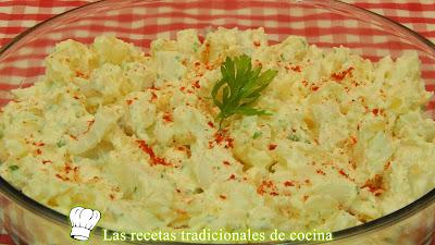 Receta de ensalada de patatas y sepia