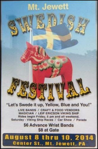 8-8/9/10 Swedish Festival in Mt. Jewett