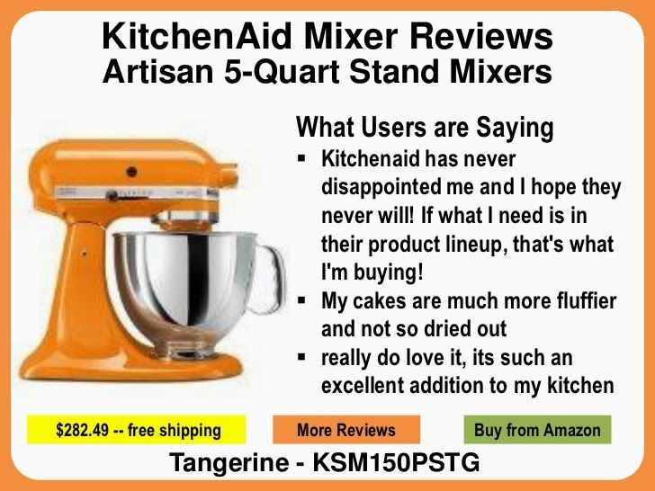 tangerine kitchenaid mixer