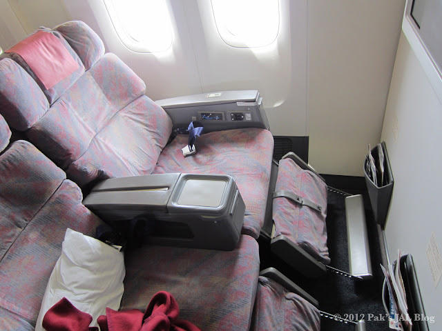 ex-JAS first class Super Seats are used as JAL Class J in 7J2 configuration