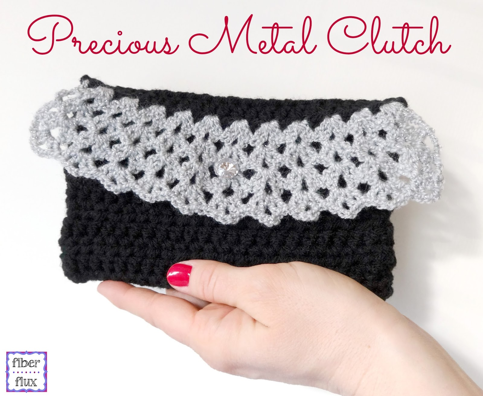 Crochet Clutch Pattern Free : Fiber Flux: Free Crochet Pattern...Precious Metal Clutch!