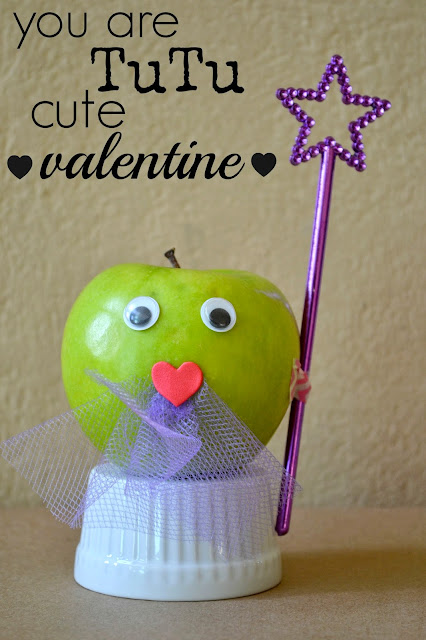 Mommy Testers, Healthy Valentine Treats, Apple Valentines, Healthy Valentines Day Treats for kids, Fairy Princess Valentine, Fairy Apple Valentine