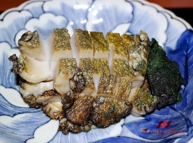 akasaka kitafuku charcoal grilled abalone