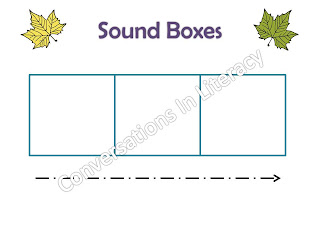 Sound boxes in literacy packet