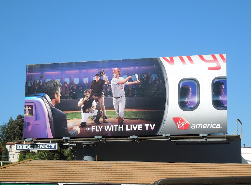 Virgin America Fly with Live TV billboard