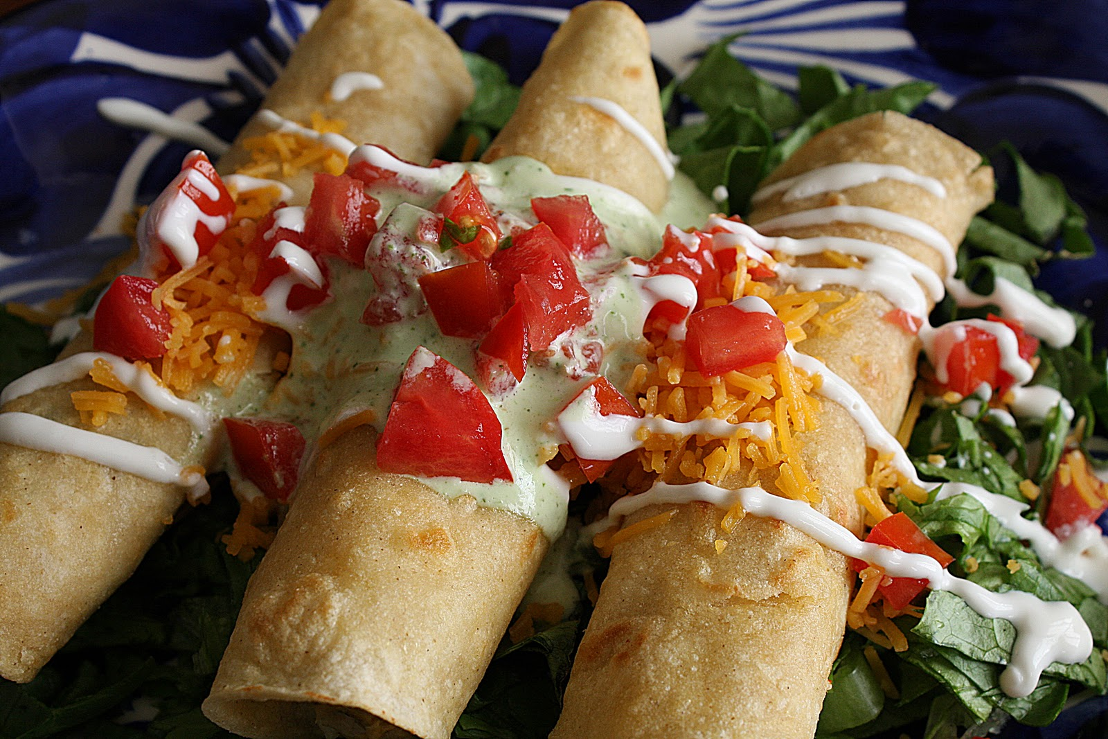 Creamy Baked Chicken Taquitos - Purple Chocolat Home