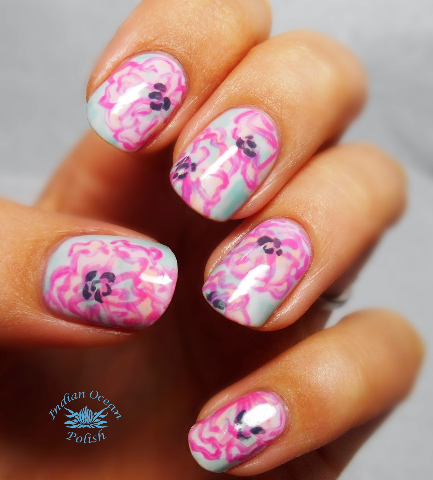 Indian Ocean Polish: Lilly Pulitzer Floral Nails