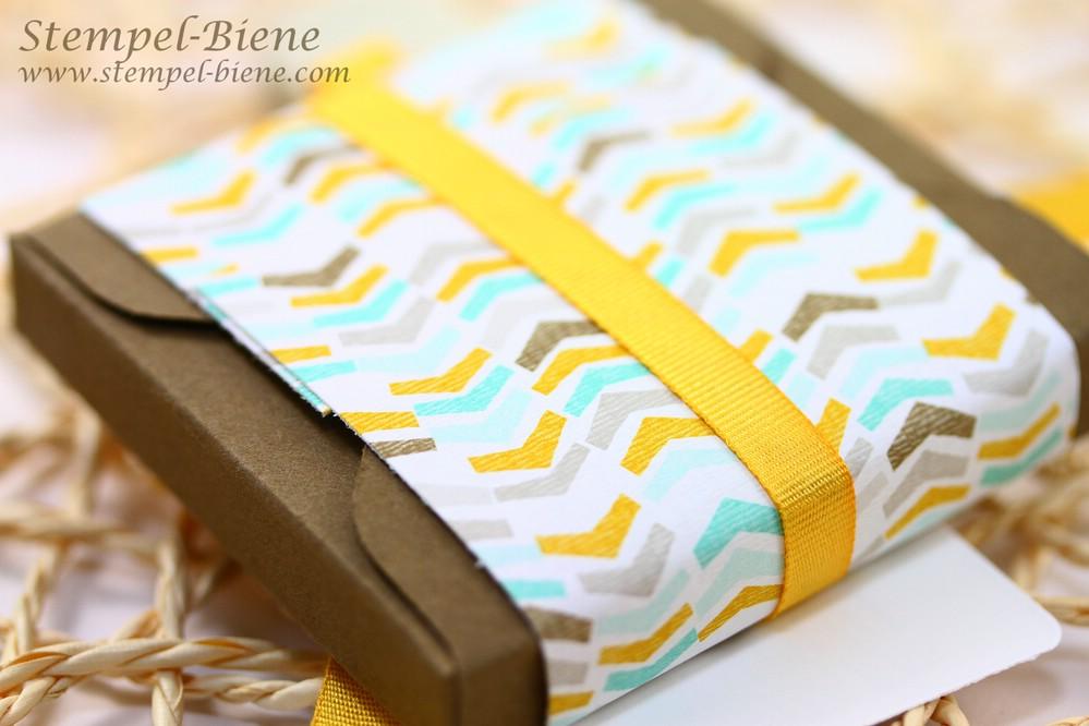 Stampin Up Sale a bration 2015, Stampin Up Stempelparty, Schnelle Schokoladenverpackung, Blog Candy Stempel-Biene, Stampin Up Bestellen